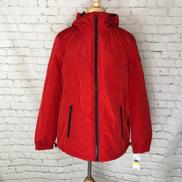 Michael Kors Jackets & Blazers - Michael Kors Red Sherpa Jacket Medium NWT